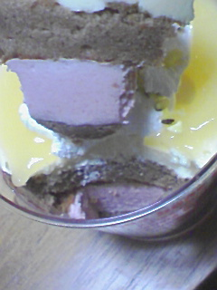バナナといちごのケーキ@ファミマ